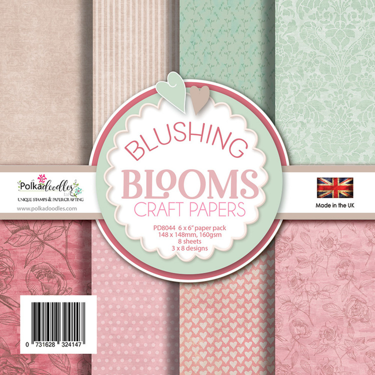 Polkadoodles - Paperpack - Blushing Blooms - PD8044