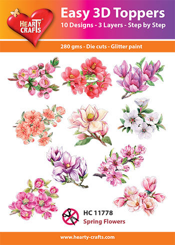 Hearty Crafts - Easy 3D Toppers - Spring Flowers - HC11778