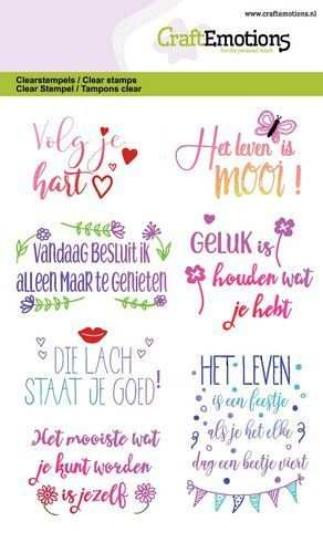 CraftEmotions - Clearstamp - Quotes - Volg je hart - 130501/1332