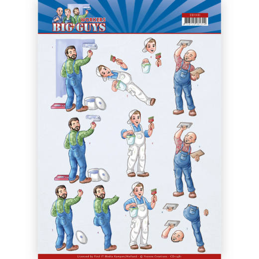 Yvonne Creations - 3D-knipvel A4 - Big Guys - Workers - Handyman - CD11481