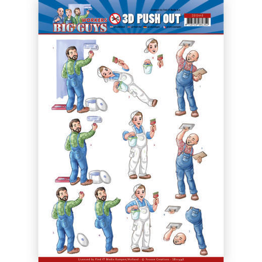 Yvonne Creations - (3D-)Stansvel A4 - Big Guys - Workers - Handyman - SB10448