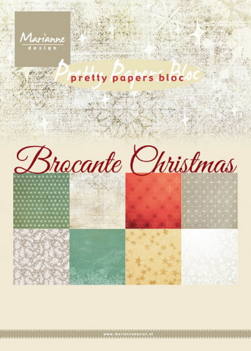 Marianne Design - Paperpack - A5 - Pretty Papers - Brocante Christmas - PK9171