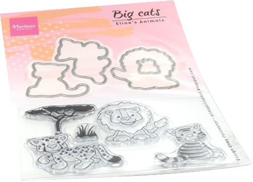 Marianne Design - Eline Pellinkhof - Clearstamp - Eline's animals - Big cats - EC0182