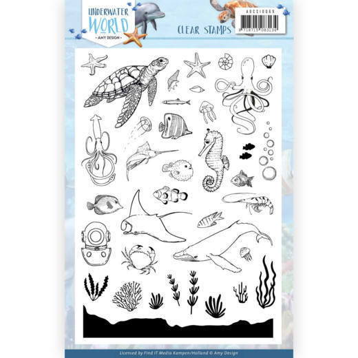 Amy Design - Clearstamp - Underwater World - ADCS10068