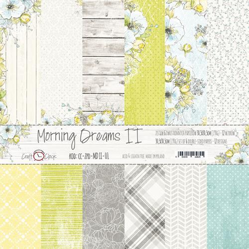 Craft O`Clock - Paperpack - 305 x 305mm - Morning Dreams II - CC-ZPD-MDII-01