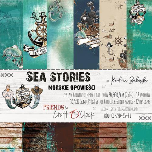 Craft O`Clock - Paperpack - 305 x 305mm - Sea Stories - CC-ZPD-SS-F1
