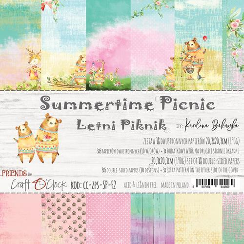 Craft O`Clock - Paperpack - 203 x 203mm - Summertime Picnic - CC-ZPS-SP-F2