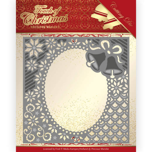 Precious Marieke - Die - Touch of Christmas - Christmas Bells Frame - PM10182