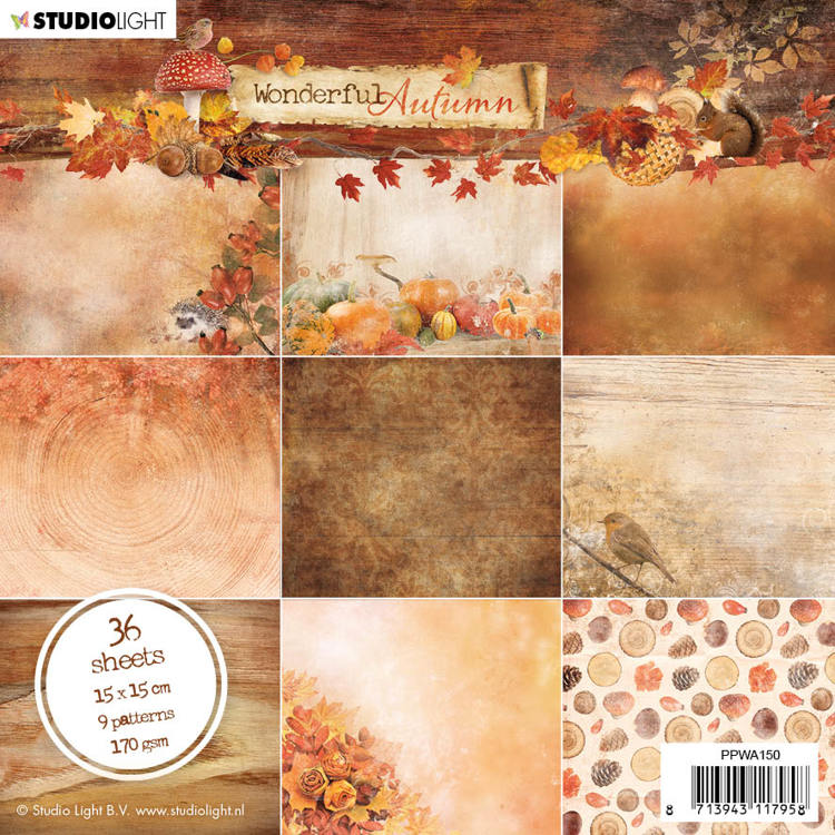 Studio Light - Paperpack - Wonderful Autumn - PPWA150