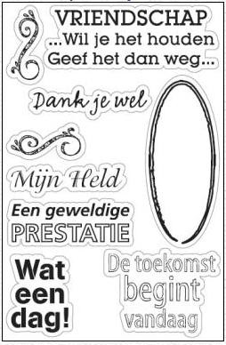 Marianne Design - Clearstamp - Dank je  wel - CS0824
