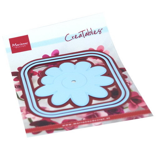 Marianne Design - Die - CreaTables - Square box and flower - LR0673