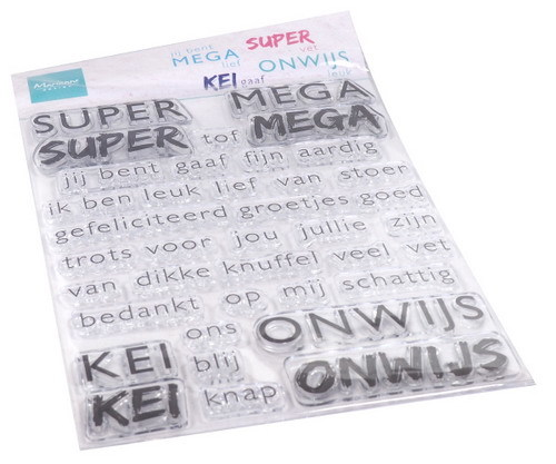 Marianne Design - Clearstamp - SUPER-MEGA-KEI-ONWIJS - CS1066