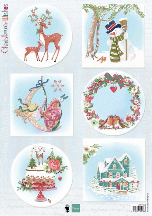 Marianne Design - Els Wezenbeek - 3D-knipvel A4 - Christmas Wishes Deer - EWK1280