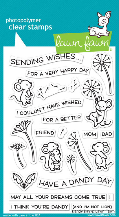 Lawn Fawn - Clearstamps - Dandy Day - LF2217
