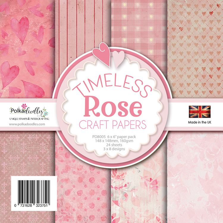 Polkadoodles - Paperpack - Timeless Rose - PD8005