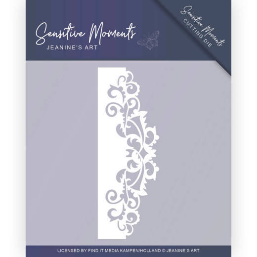 Jeanine`s Art - Die - Sensitive Moments - Swirl border - JAD10098
