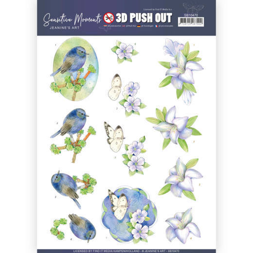 Jeanine`s Art - Uitdrukvel A4 - Sensitive Moments - Lily - SB10470
