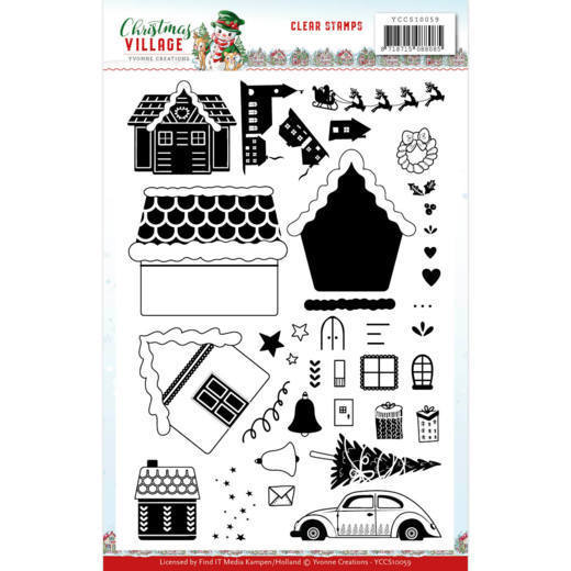 Yvonne Creations - Clearstamp - Christmas Village - YCCS10059