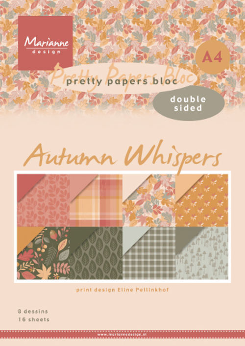 Marianne Design - Paperpack - A4 - Pretty Papers - Eline's Autumn Whispers - PB7059