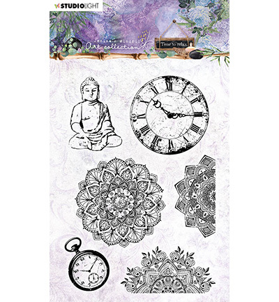 Studio Light - Clearstamp - Jenine's Mindful Art Collection - Time to relax - STAMPJMA17