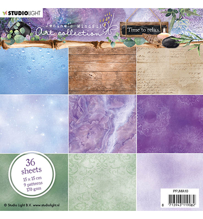 Studio Light - Paperpack - Jenine`s Mindful Art collection - Time to relax - PPJMA10