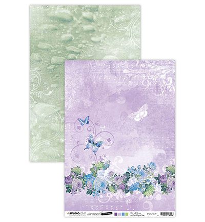 Studio Light - Achtergrondpapier - Jenine's Mindful Art Collection - Time to relax - BASISJMA09