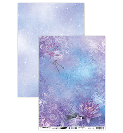 Studio Light - Achtergrondpapier - Jenine's Mindful Art Collection - Time to relax - BASISJMA10