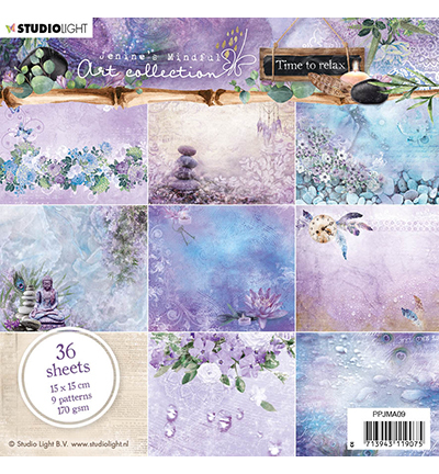 Studio Light - Paperpack - Jenine`s Mindful Art collection - Time to relax - PPJMA09