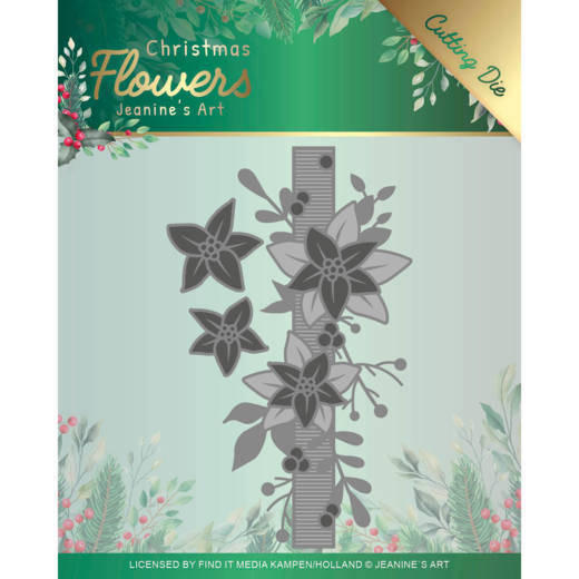 Jeanine`s Art - Die - Christmas Flowers - Poisettia Border - JAD10105
