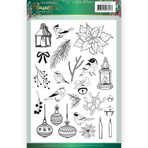 Jeanine`s Art - Clearstamp - Christmas Flowers - JACS10033