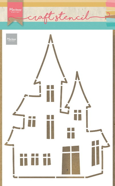 Marianne Design - Craft stencil - Haunted house - PS8075