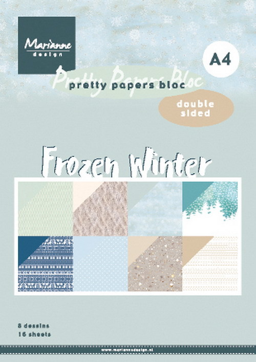 Marianne Design - Paperpack - A4 - Pretty Papers - Frozen Winter - PK9172