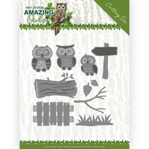 Amy Design - Die - Amazing owls - Owl family - ADD10217