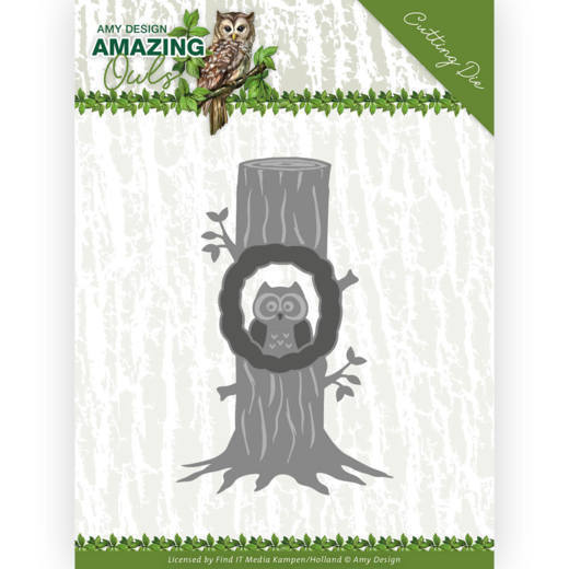 Amy Design - Die - Amazing owls - Owl in tree - ADD10218