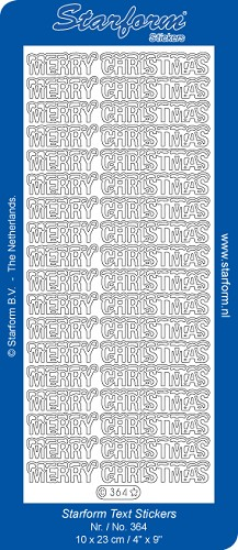 Starform - Stickervel - Feestdagen - Tekst - Merry Christmas: Goud - 364