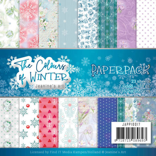 Jeanine`s Art - Paperpack - The colours of winter - JAPP10017