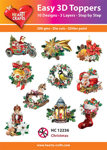 Hearty Crafts - Easy 3D Toppers - Christmas - HC12236