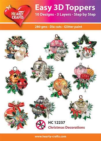 Hearty Crafts - Easy 3D Toppers - Christmas Decorations - HC12237