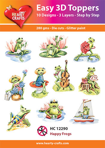 Hearty Crafts - Easy 3D Toppers - Frogs - HC12290