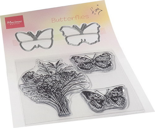 Marianne Design - Tiny's - Clearstamp & die - Butterflies - TC0879