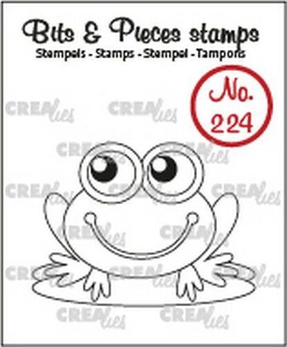 Crealies - Clearstamp - Bits & Pieces - No. 224 - Frog - CLBP224
