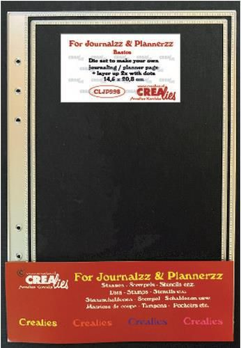 Crealies - Die - For Journalzz & Planners - Planner page + layer up with dots - CLJP998