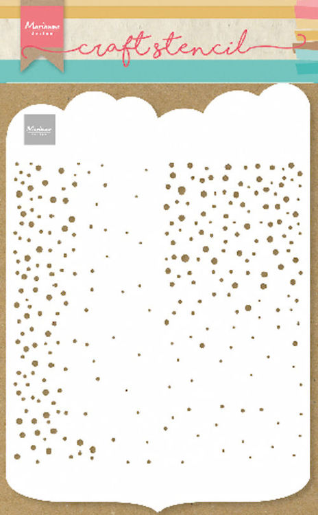 Marianne Design - Maskingstencil - Slimline dots - PS8081
