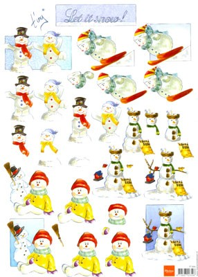 Marianne Design - Tiny`s - 3D-knipvel A4 - Let it snow