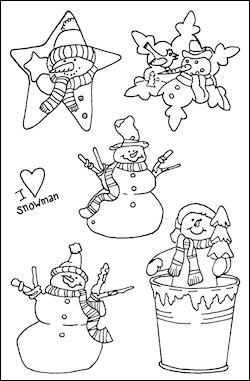 Marianne Design - Tiny`s - Clearstamp - Snowstars - TC0807