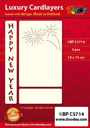 Doodey - Oplegkaart - A6 - happy new year - 5714
