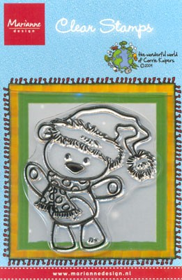 Marianne Design - Corrie Kuipers - Clearstamp - Beary Santa - CO9606