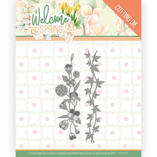 Jeanine`s Art - Die - Welcome Spring - Flowers and leaf borders - JAD10114