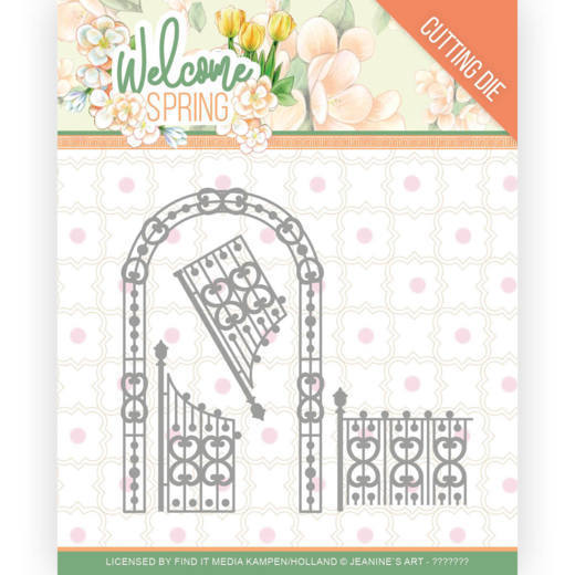 Jeanine`s Art - Die - Welcome Spring - Arch and Fence - JAD10113