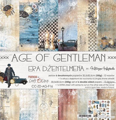 Craft O`Clock - Paperpack - 305 x 305mm - Age of Gentleman - CC-ZD-AG-F16